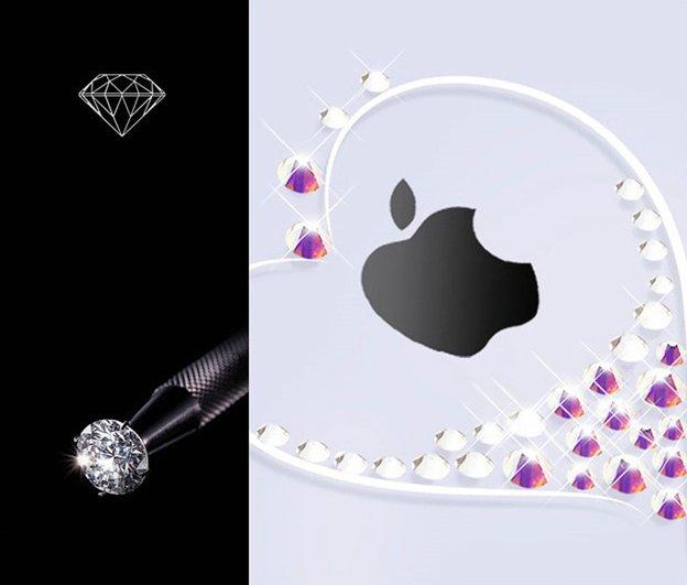 Kingxbar Wish Series silikonové pouzdro s original Swarovski crystals pro iPhone 11 silver