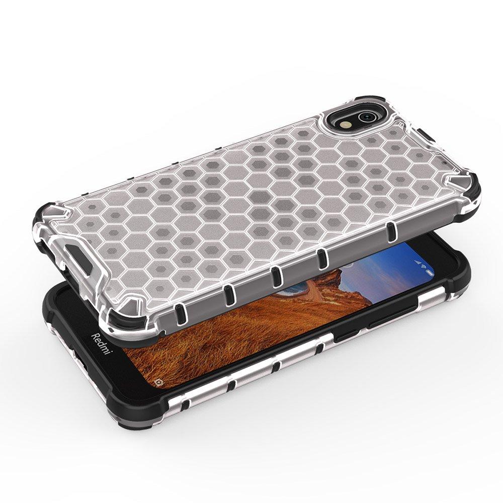 Honeycomb panceřové pouzdro se silikonovým rámem pro Xiaomi Redmi 7A black