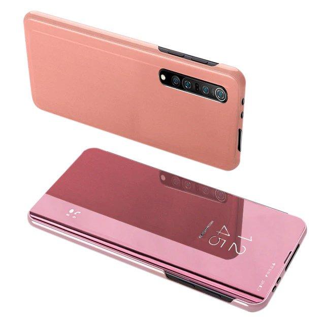 Knížkové pouzdro naXiaomi Mi NOTE 10 Lite s průhlednou přední stranou pink