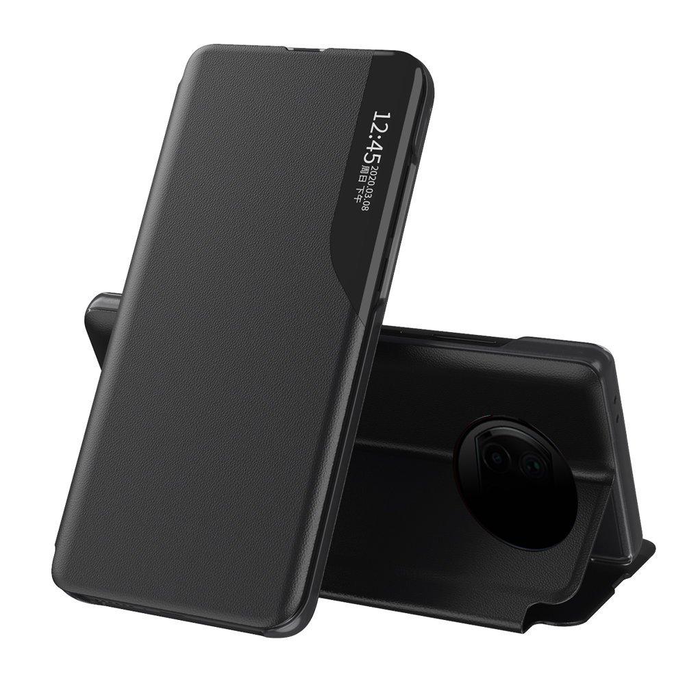 Knížkové puzdro s imitáciou kože preXiaomi Redmi Note 9T 5G black
