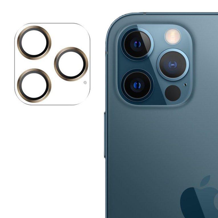 """Joyroom JR-PF688 štýlové ochranné sklo na celý fotoaparát iPhone 12 Pro 6,1"""" gold"""