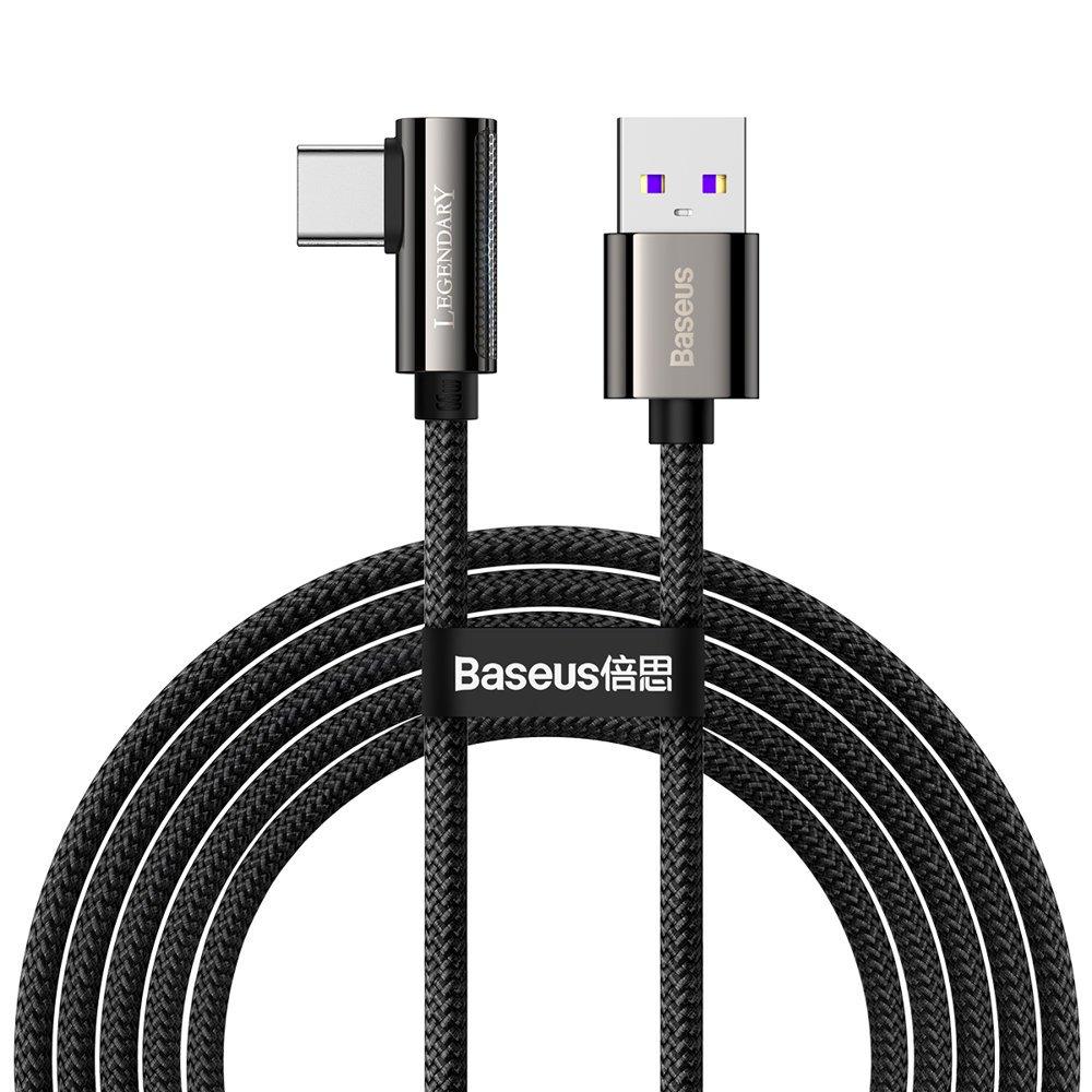 Baseus Legend extra odolný nylonem opletený kabel USB / USB-C 66W 2m black