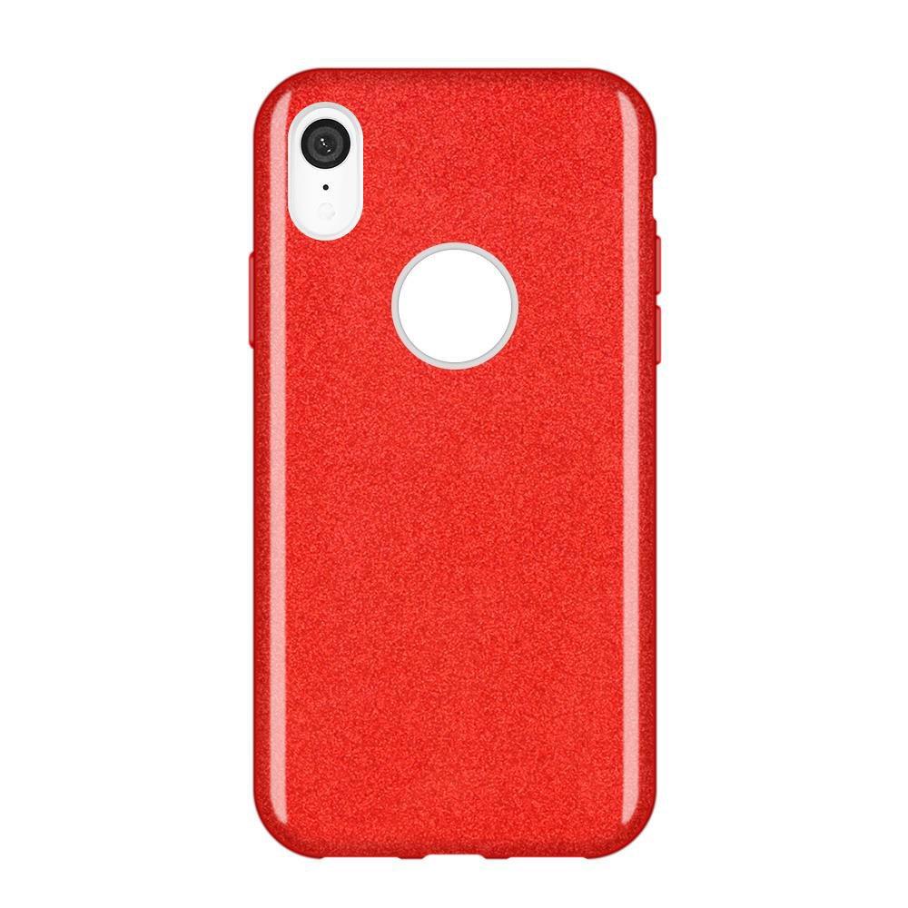 Wozinsky Glitter Shining silikonové pouzdro iPhone XR red