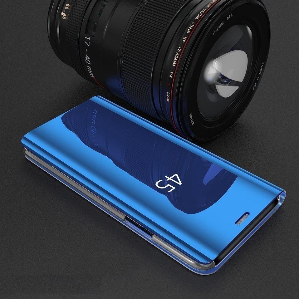 Knižkove púzdro pre Samsung Galaxy A40 golden s priehľadnou prednou stranou