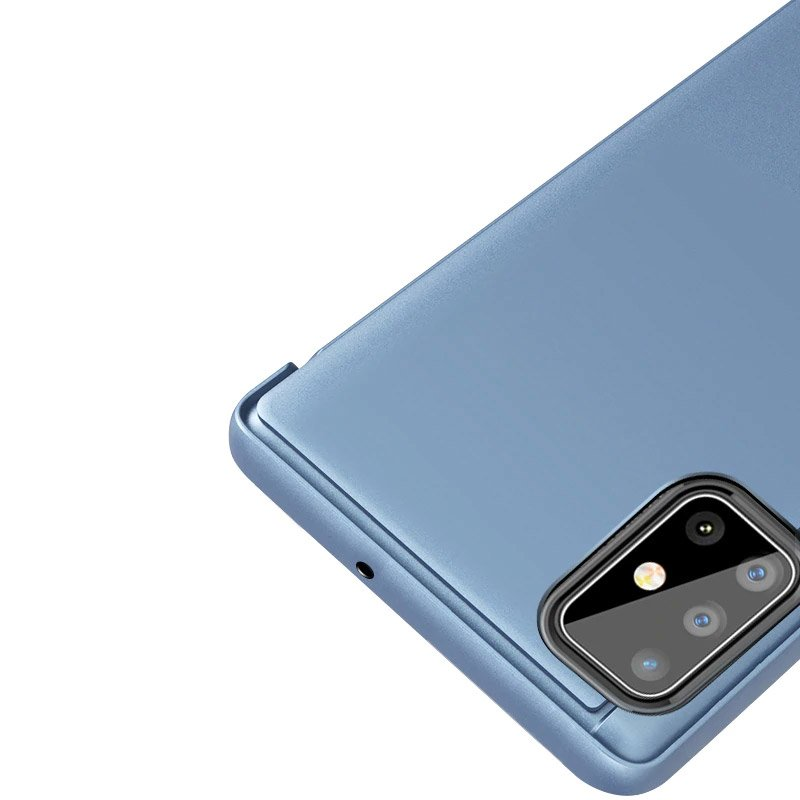 Knížkové pouzdro na Samsung Galaxy S20 Silver s průhlednou přední stranou