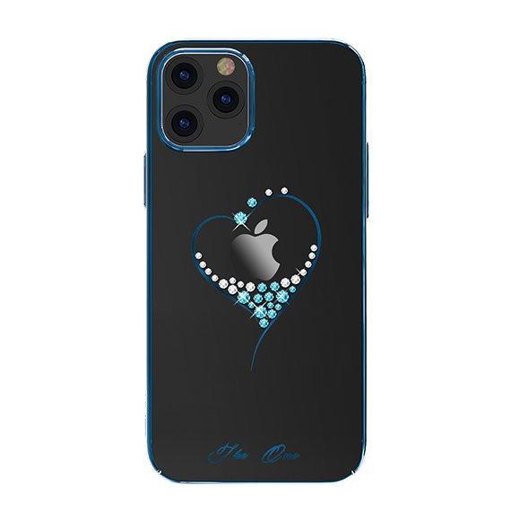 "Kingxbar Wish Series silikónové puzdro s original Swarovski crystals preiPhone 12 Pro MAX 6,7"" blue"