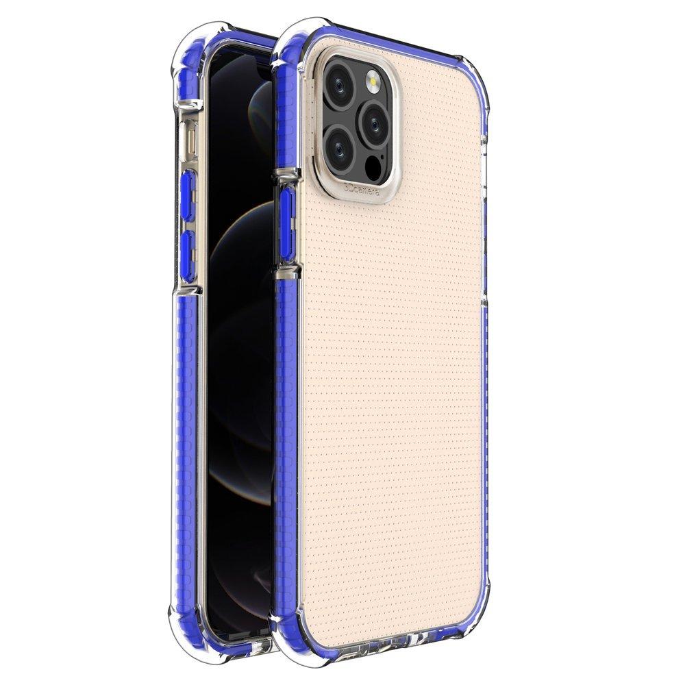 "Spring Armor silikonové pouzdro s barevným lemem na iPhone 12 / 12 Pro 6,1"" blue"