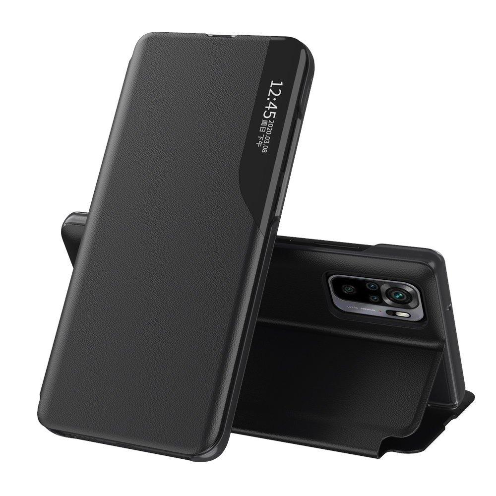 Knížkové pouzdro s imitací kůže naXiaomi Redmi Note 10 PRO black