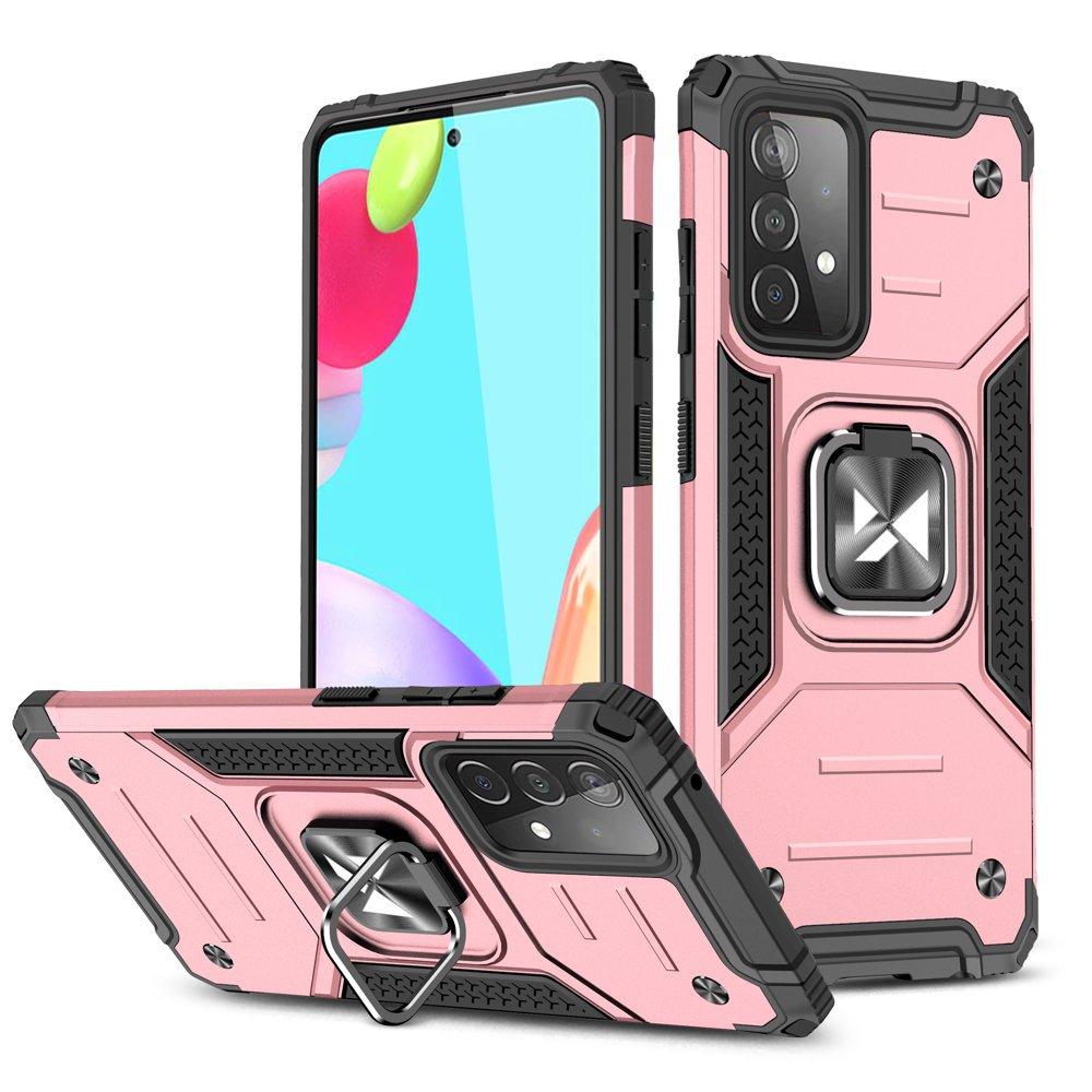 Wozinsky Hybrid pancierové púzdro s krúžkom pre Samsung Galaxy A52 pink