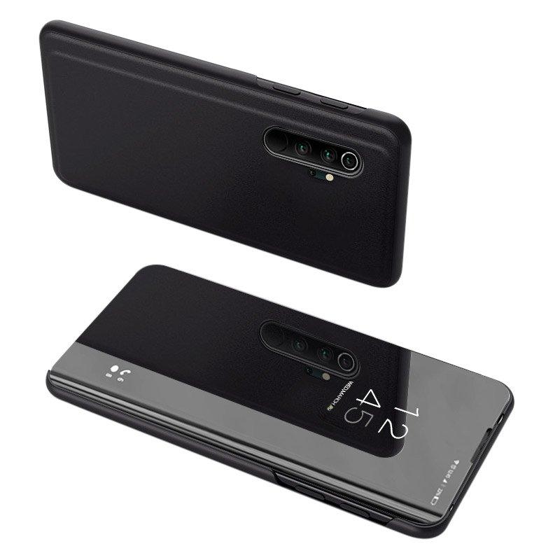 Knižkove púzdro pre Xiaomi Mi Note 10 / Mi Note 10 Pro / Mi CC9 Pro black s priehľadnou prednou stranou