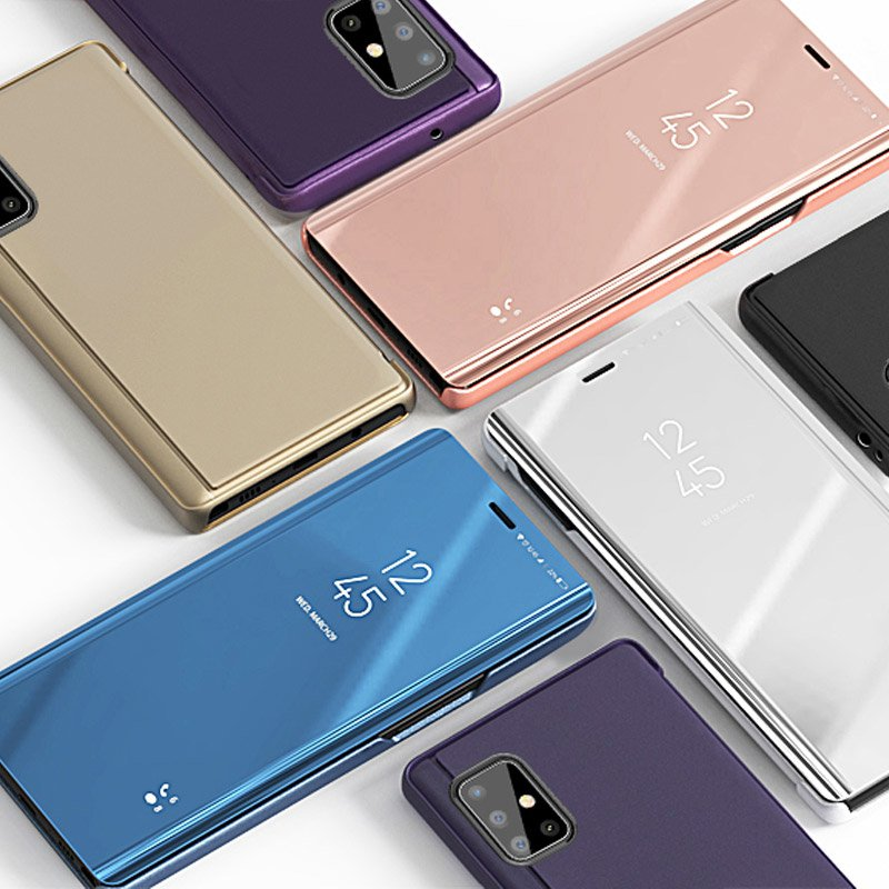 Knižkove púzdro pre Samsung Galaxy S20 ULTRA s priehľadnou prednou stranou blue