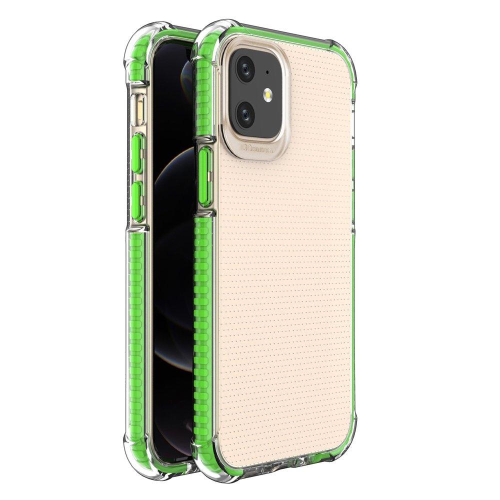 """Spring Armor silikonové pouzdro s barevným lemem na iPhone 12 Mini 5,4"""" green"""