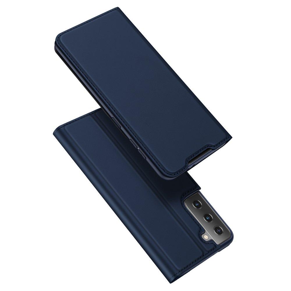 DUX DUCIS Skin knížkové pouzdro na Samsung Galaxy S21 ULTRA 5G blue