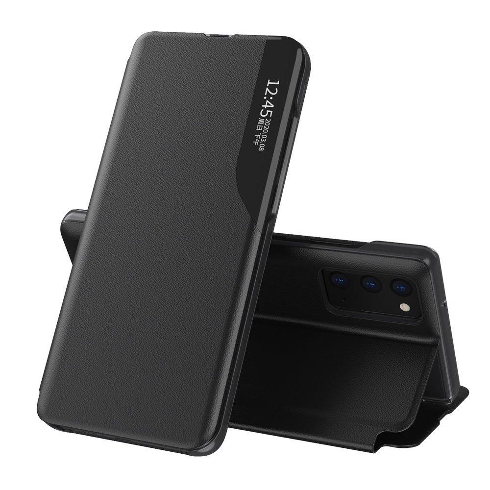 Knížkové puzdro s imitáciou kože pre Samsung Galaxy A72 black