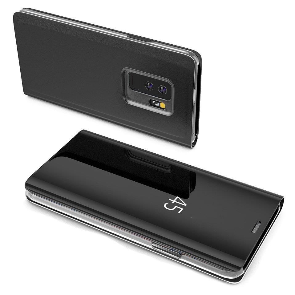 Knižkove púzdro na Samsung Galaxy A5 2017 A520 black s priehľadnou prednou stranou