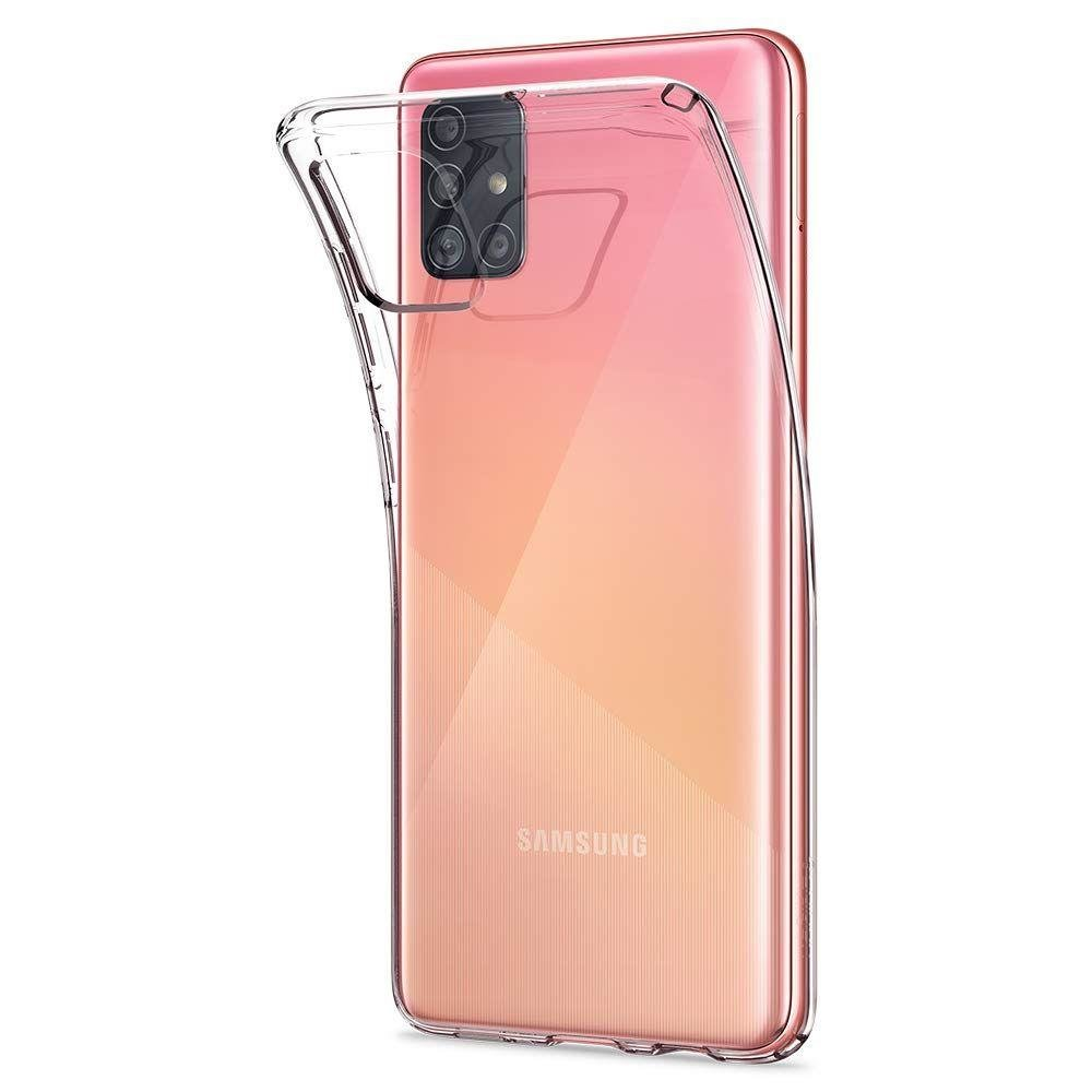 Spigen Liquid Crystal silikonové púzdro pre Samsung Galaxy A51 Crystal Clear