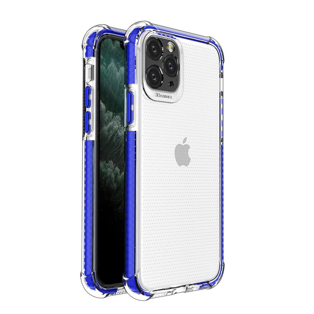 Spring Armor silikónové puzdro s farebným lemom pre iPhone 11 Pro blue
