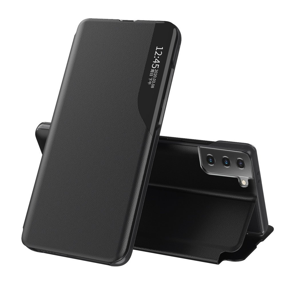 Flipové pouzdro Eco Leather View Case Samsung Galaxy S21 5G , černá 9111201924994
