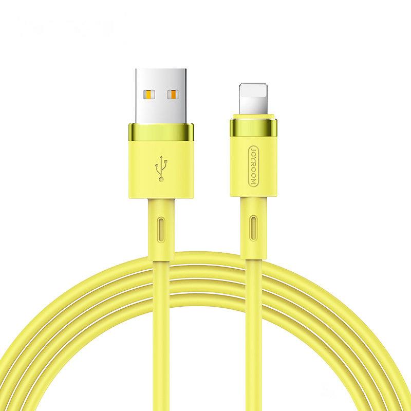 Joyroom S-1224N2 odolný silikonový kabel USB / Lightning 2,4A 1,2m yellow