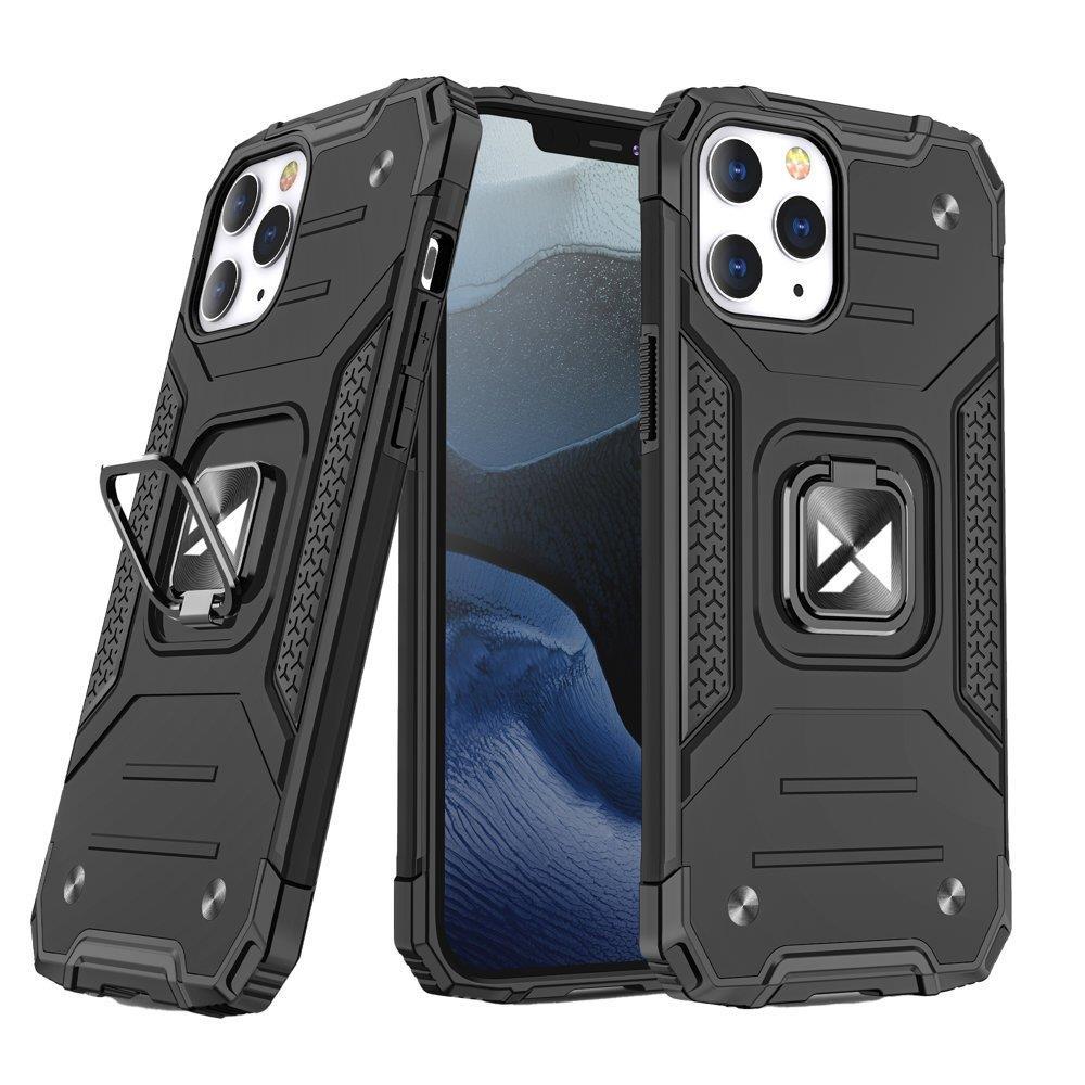 """Wozinsky Hybrid pancéřové pouzdro s kroužkem naiPhone 13 Pro 6.1"""" black"""