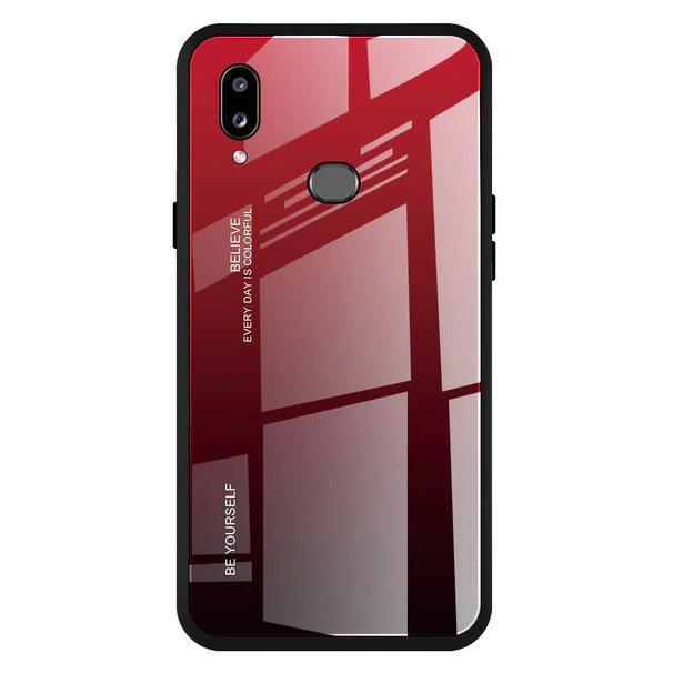 Gradient Glass tvrzené temperované ochranné sklo na zadní část na Samsung Galaxy A20e black-red