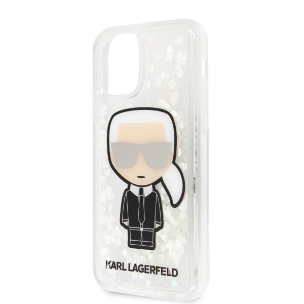 Karl Lagerfeld KLHCN58GLGIRKL hard silikonové pouzdro iPhone 11 black Ikonik glitter Glow in the dark