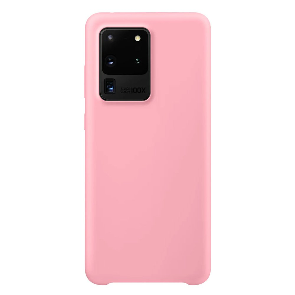Silikonové pouzdro LUX na Samsung Galaxy S20 Ultra pink