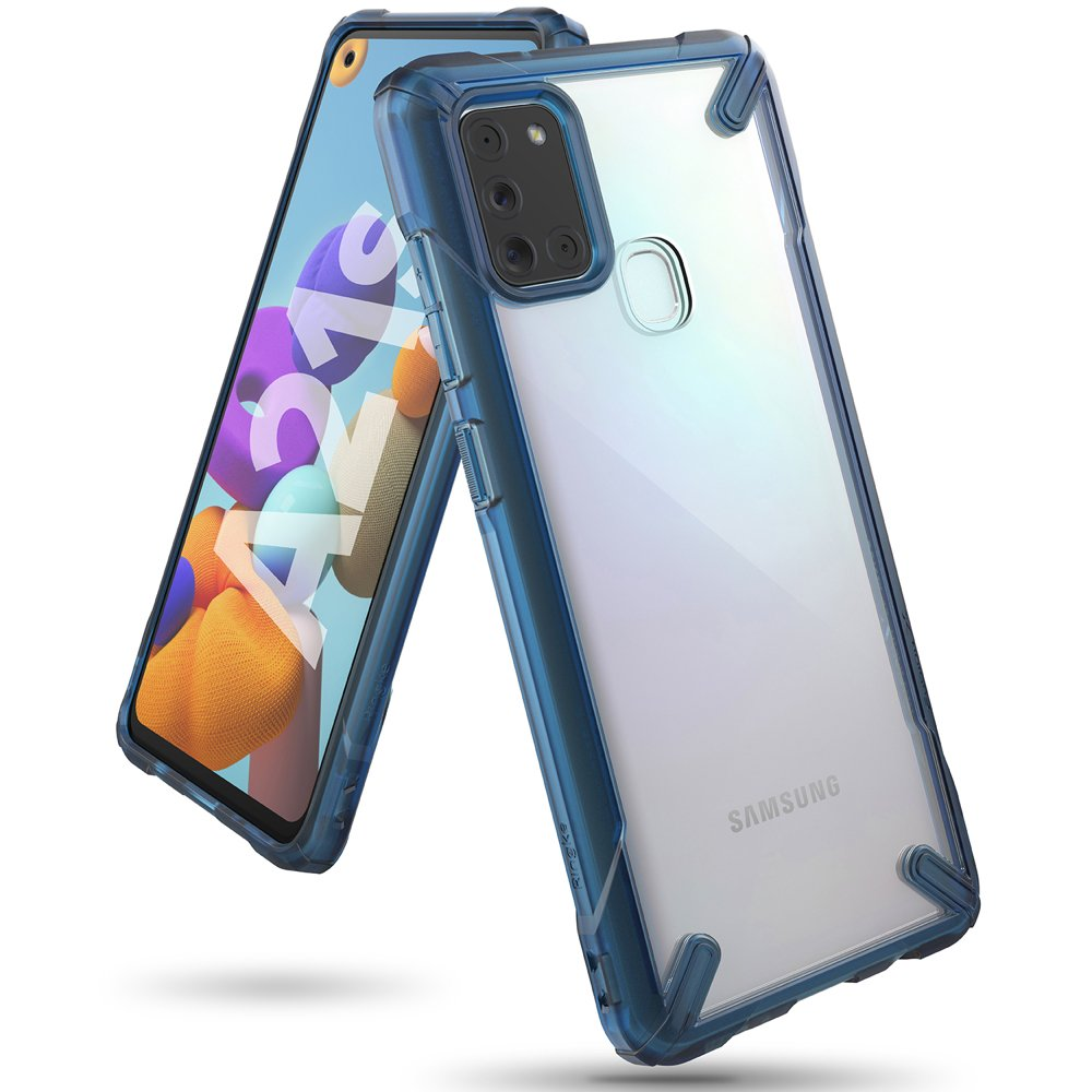 Ringke Fusion X pancéřové pouzdro na Samsung Galaxy A21s space blue