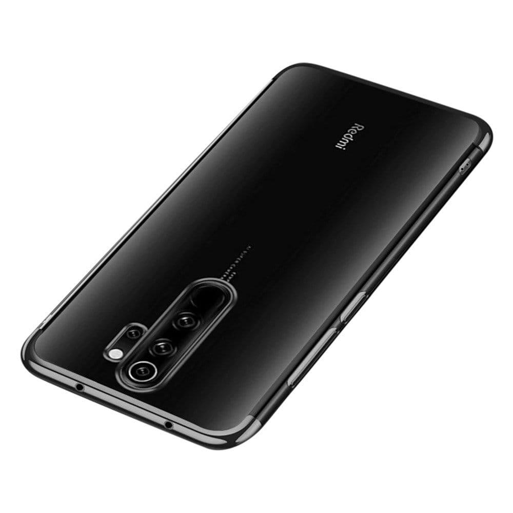 Color Electroplating silikónové puzdro pre Xiaomi Redmi 9 black