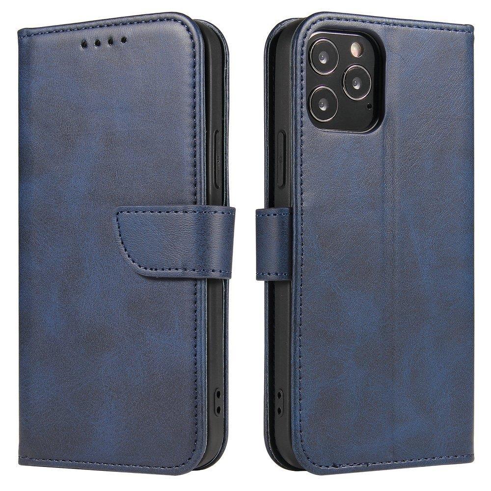 Kožené flipové pouzdro Magnet Case pro  iPhone 12 mini , modrá 9111201920675