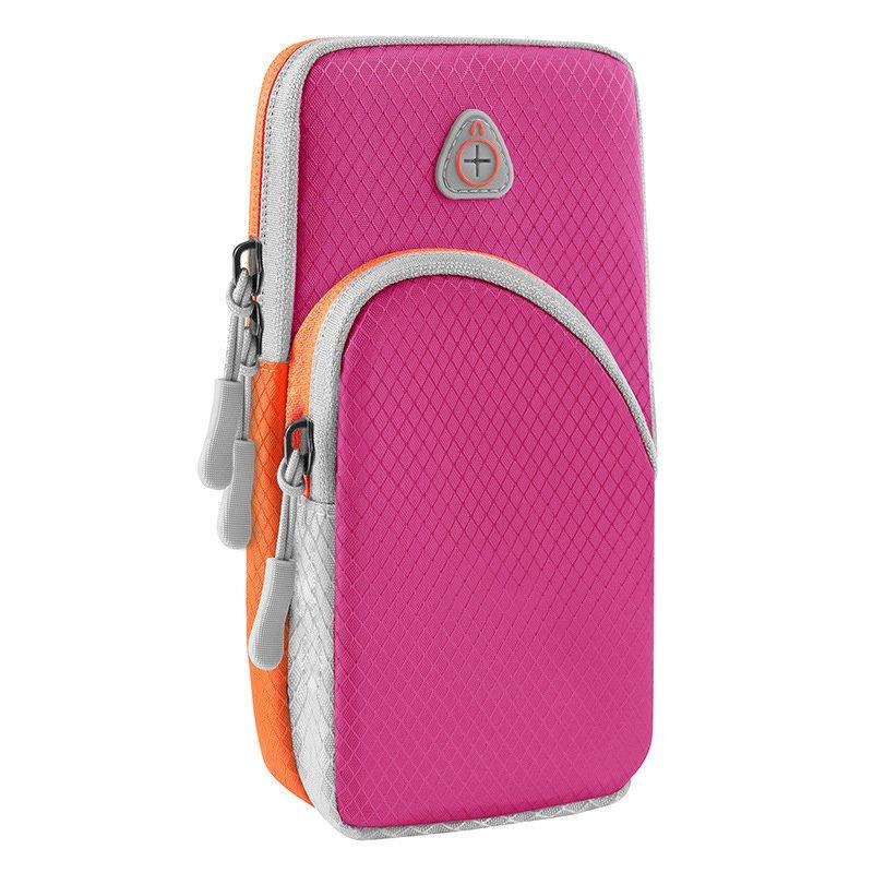 Běžecké pouzdro pro mobil na ruku, univerzální magenta 9111201926189
