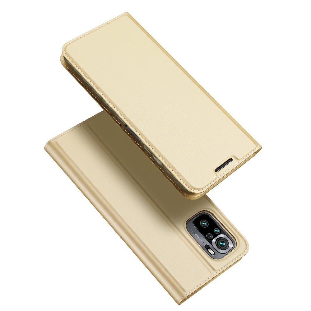 DUX DUCIS Skin knížkové pouzdro na Xiaomi Redmi NOTE 10 / Redmi NOTE 10S golden
