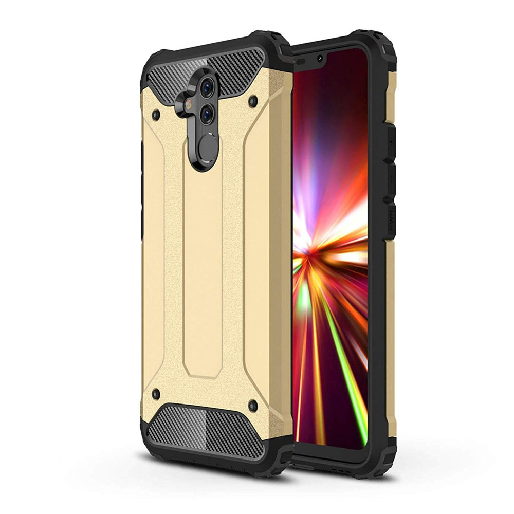 Hybrid pancéřové polykarbonátové pouzdro na Huawei Mate 20 Lite golden