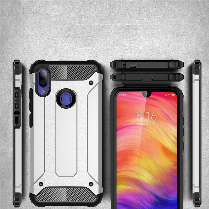 Hybrid pancéřové polykarbonátové pouzdro pro Xiaomi Redmi 7 silver