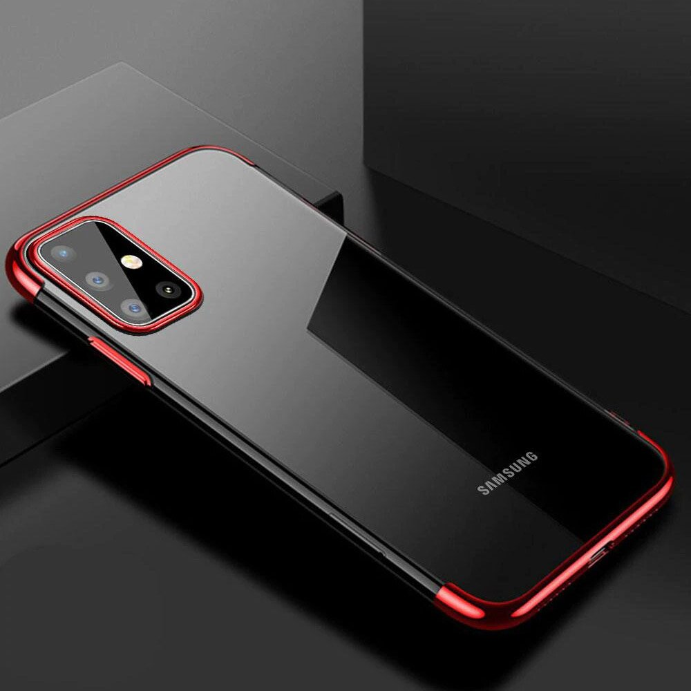 Color Electroplating silikonové pouzdro na Samsung Galaxy A51 red