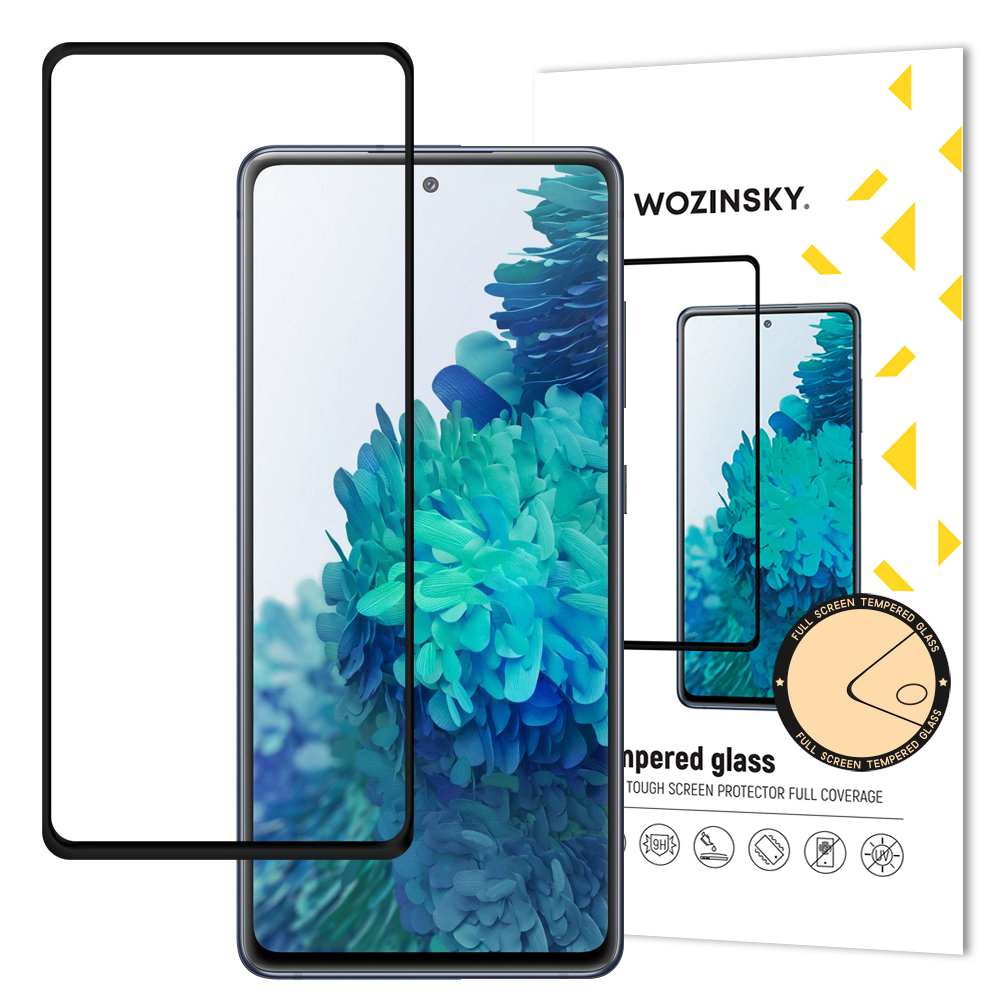 Wozinsky Celoplošné temperované tvrdené sklo pre Samsung Galaxy A72 black
