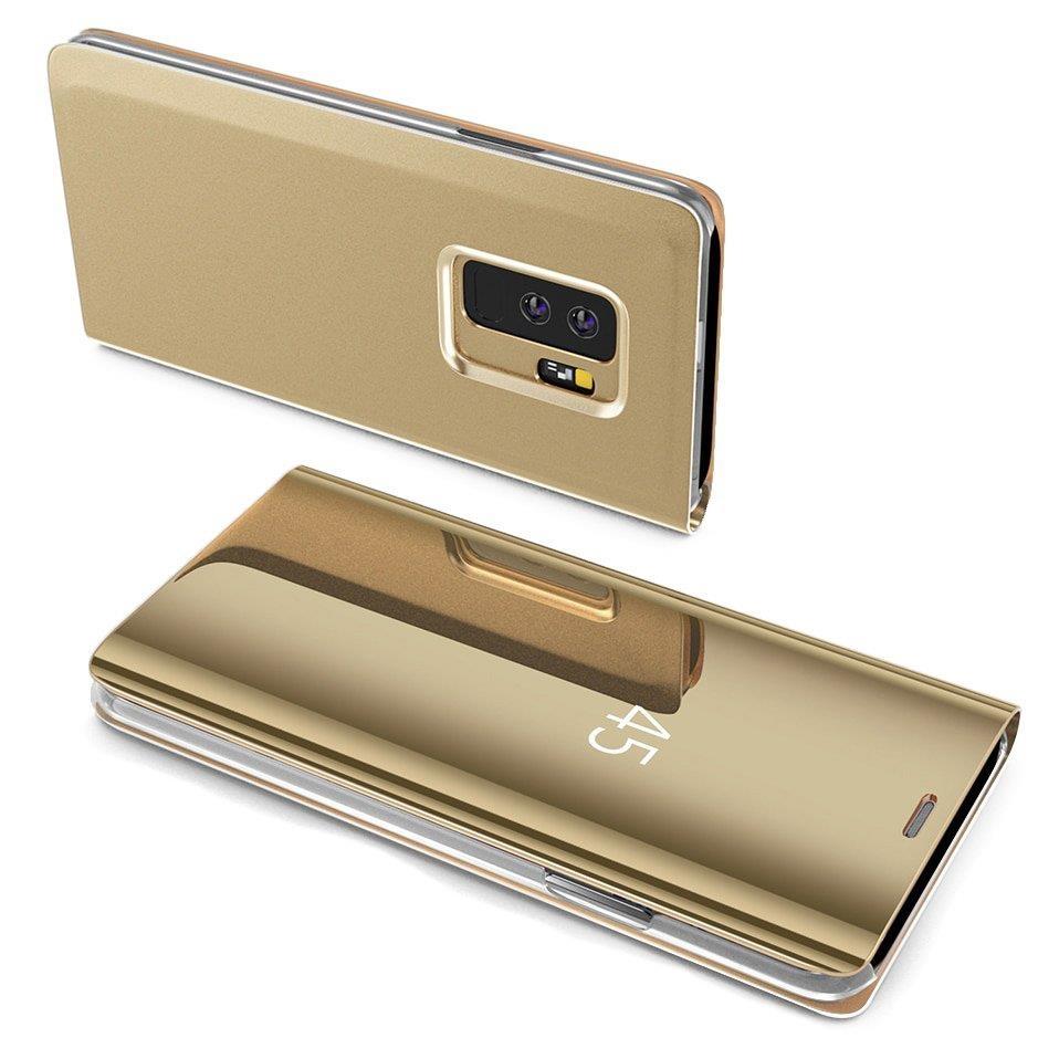 Knížkové pouzdro pro Samsung Galaxy S8 G950 golden s průhlednou přední stranou