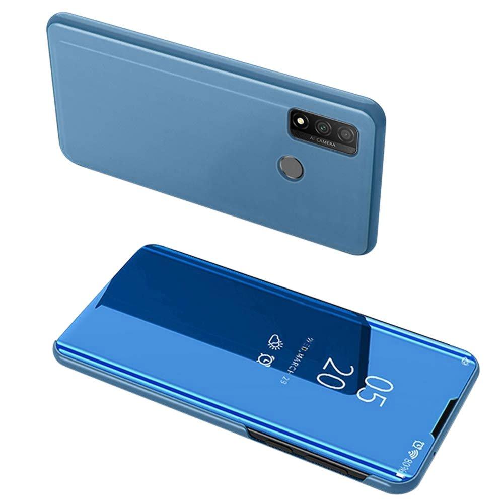 Knížkové pouzdro na Huawei P Smart 2020 blue s průhlednou přední stranou