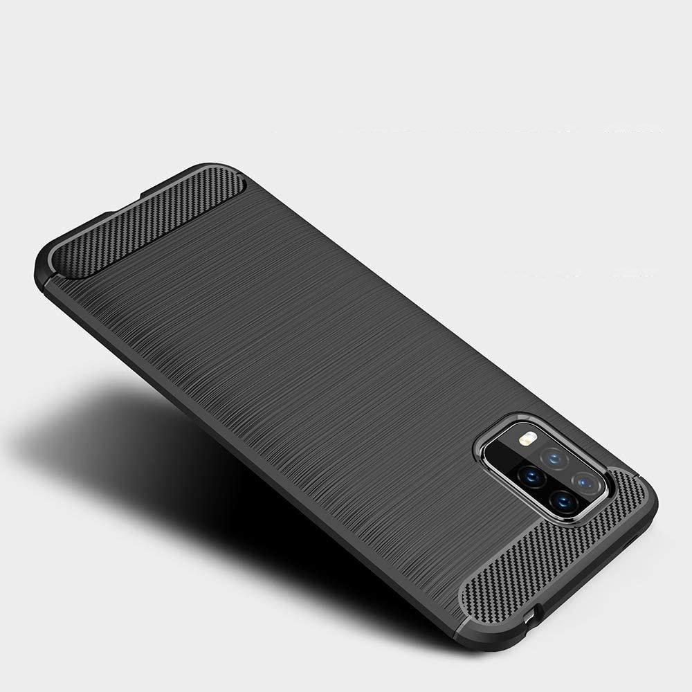 Carbon silikonové pouzdro na Xiaomi Mi 10 Lite black