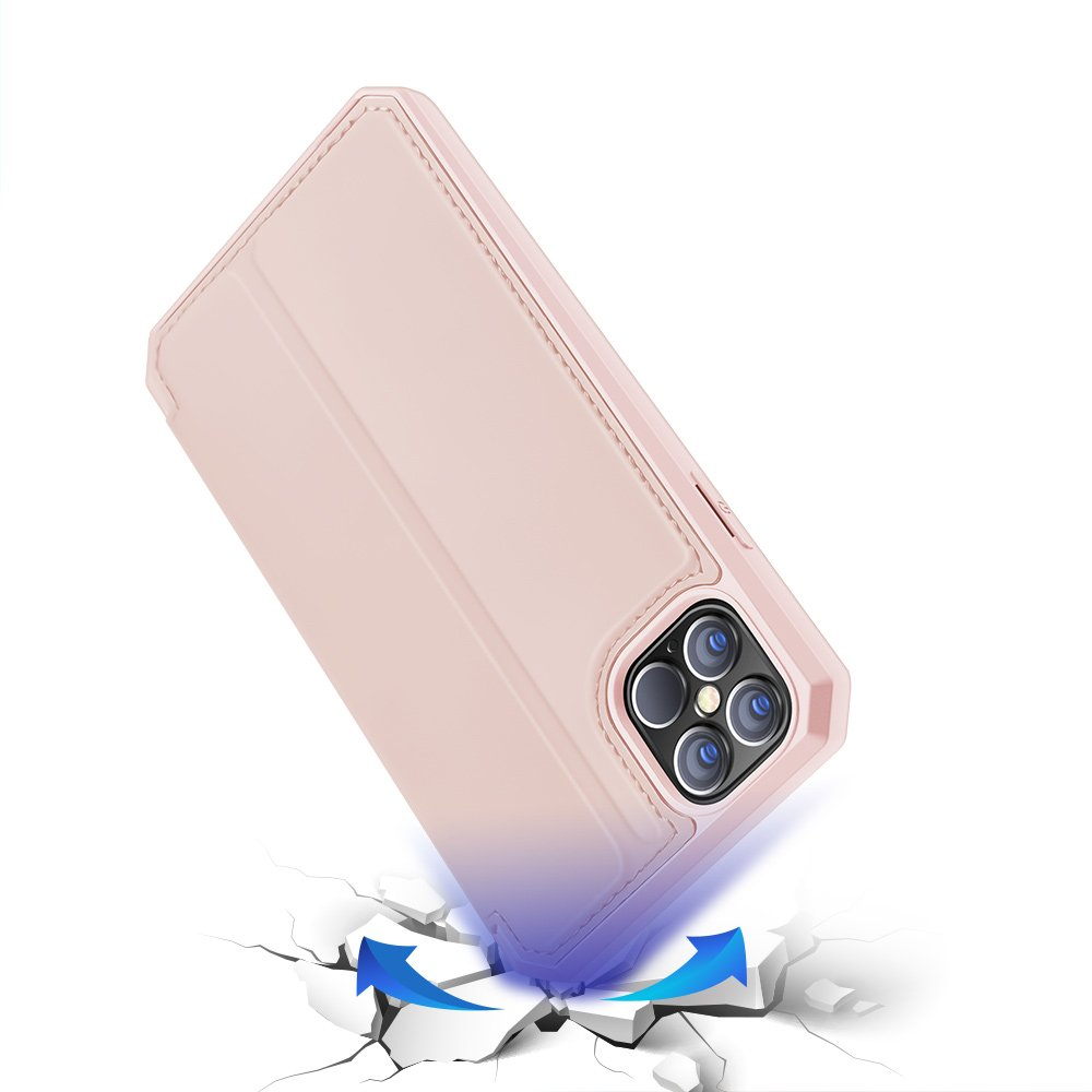 "DUX DUCIS Skin X knížkové pouzdro na iPhone 12 Pro Max 6.7"" pink"