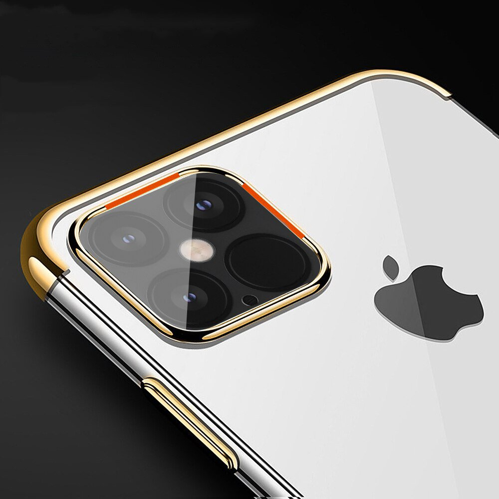 """Color Electroplating silikonové pouzdro na iPhone 12 Pro Max 6.7"""" red"""