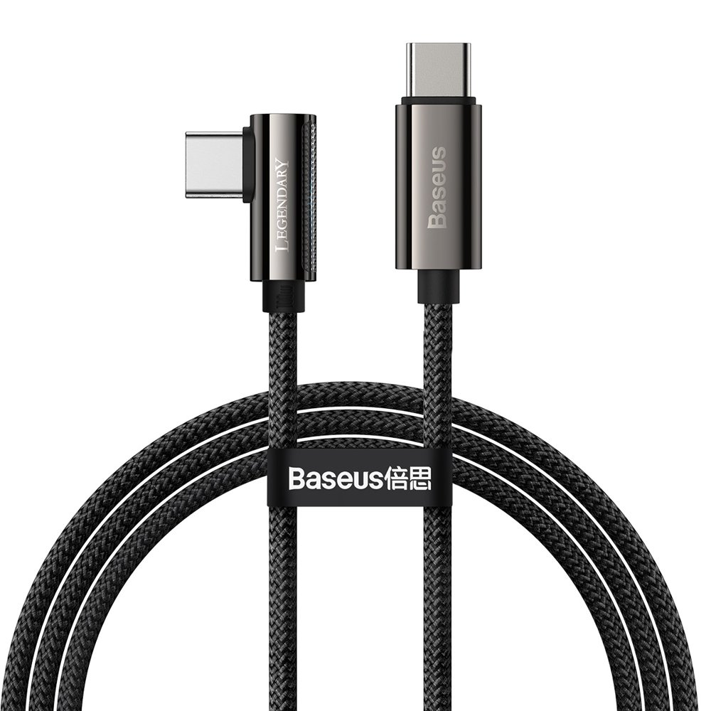 Baseus Legend extra odolný nylonem opletený kabel USB-C / USB-C 100W 5A 1m black