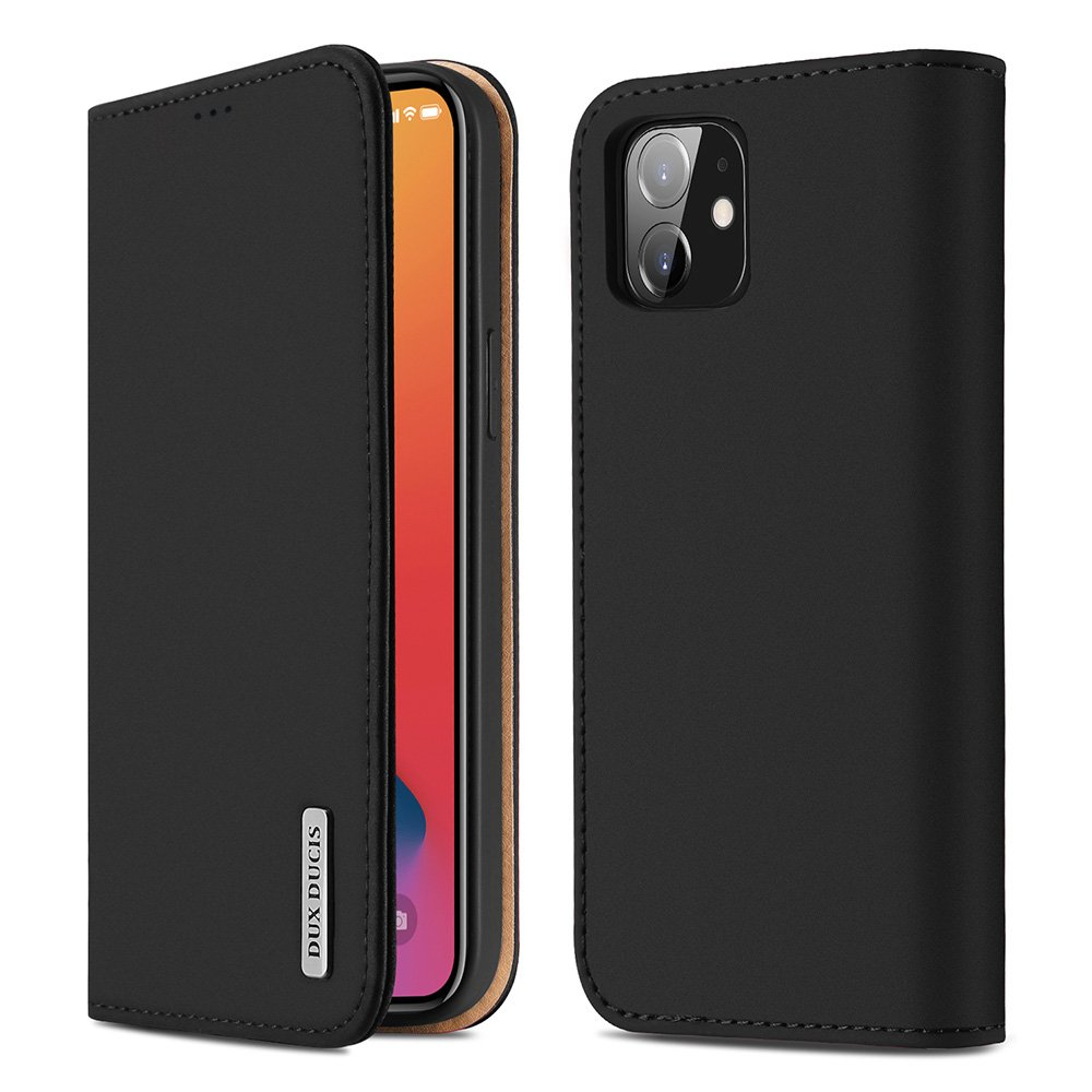 "DUX DUCIS Wish kožené pouzdro na iPhone 12 / 12 Pro (6,1"") black"