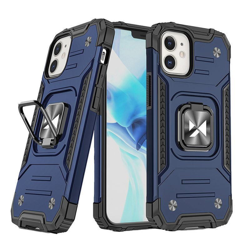 "Wozinsky Hybrid pancéřové pouzdro s kroužkem naiPhone 12 Mini 5.4"" Blue"