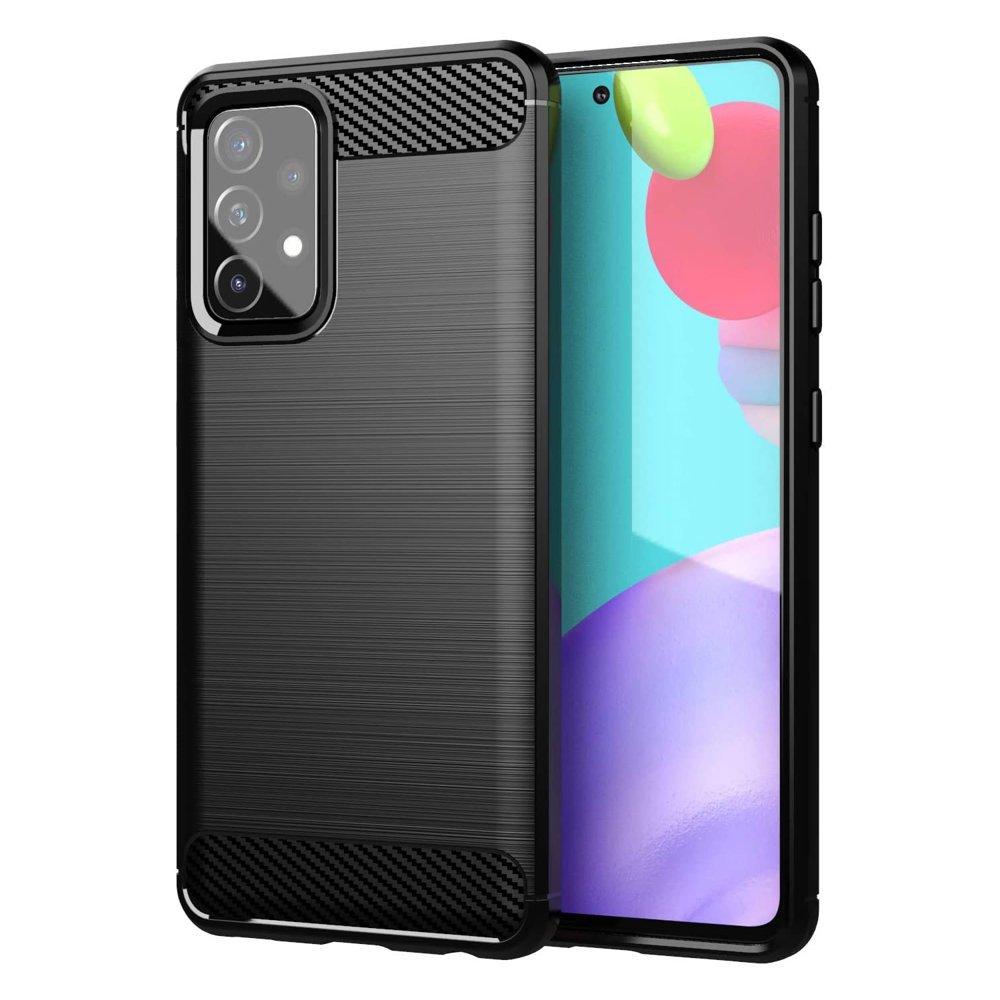 Karbonový kryt na mobil Samsung Galaxy A52 5G / A52 4G , černá