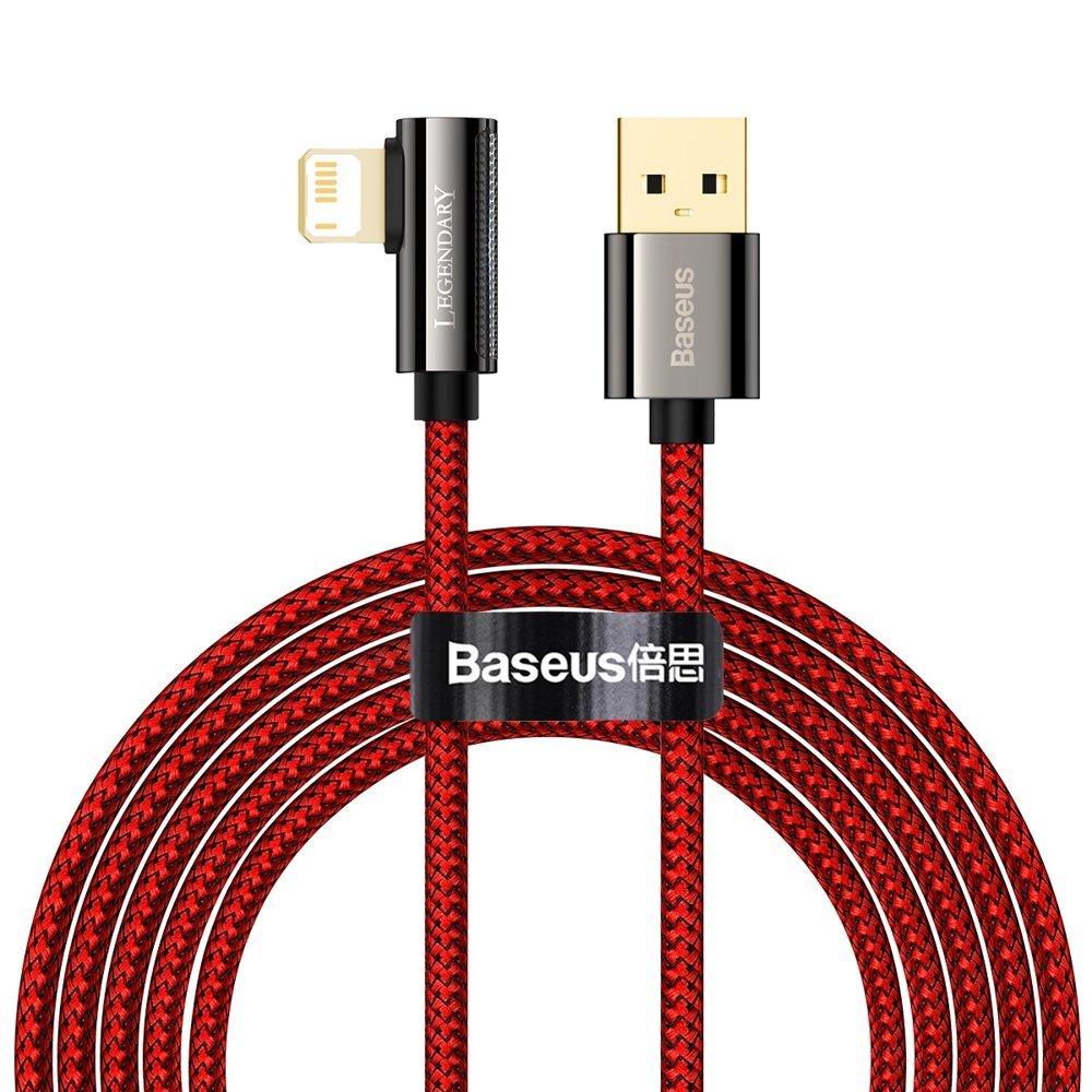 Baseus Legend extra odolný nylonem opletený kábel USB / Lightning 2.4A 2m red