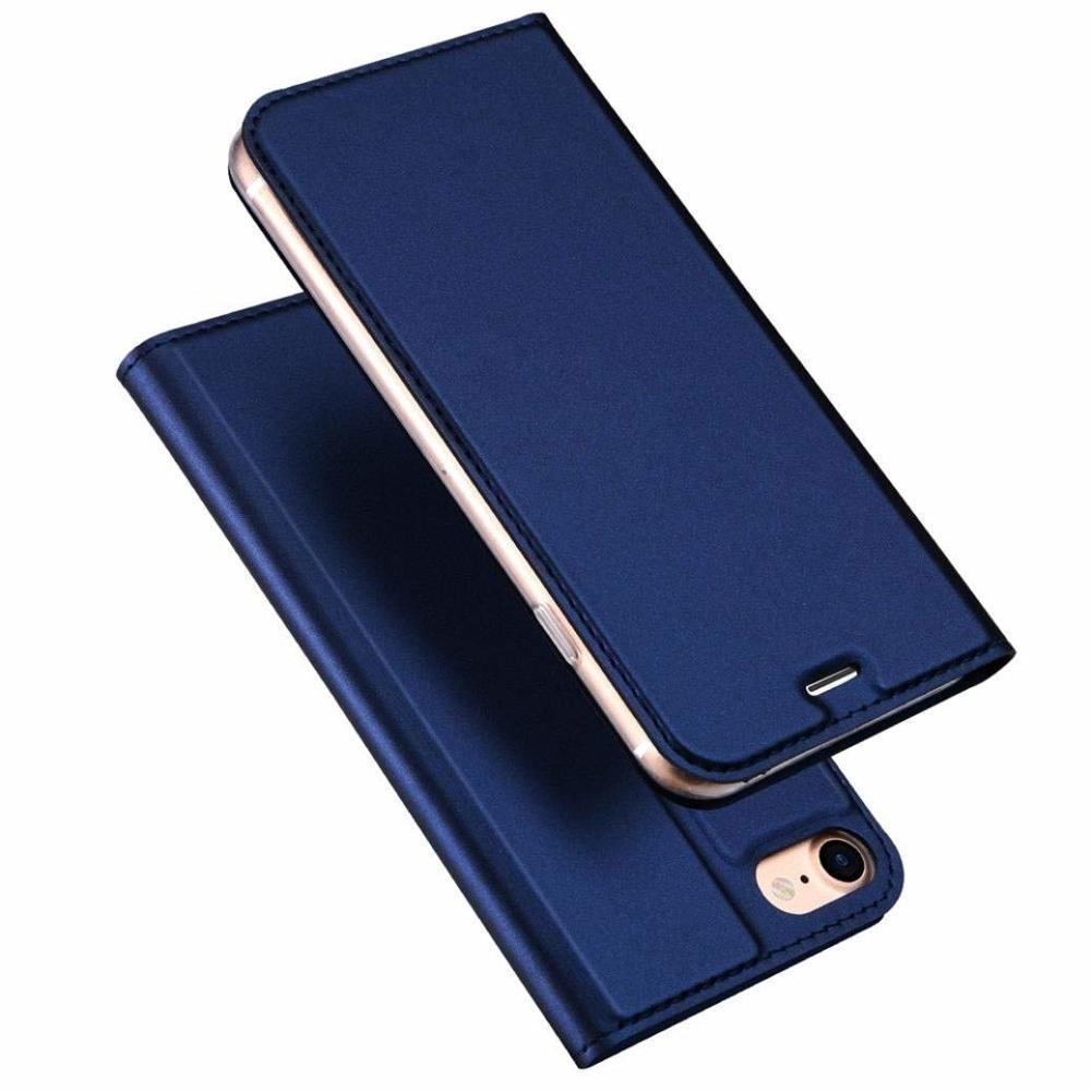 DUX DUCIS Skin knížkové púzdro pre iPhone SE 2020 / 8 / 7 blue