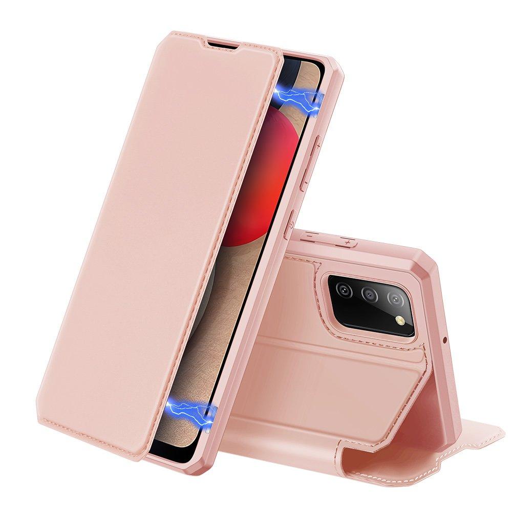 Flipové pouzdro Dux Ducis skin na Samsung Galaxy A02s EU , růžová 6934913052488