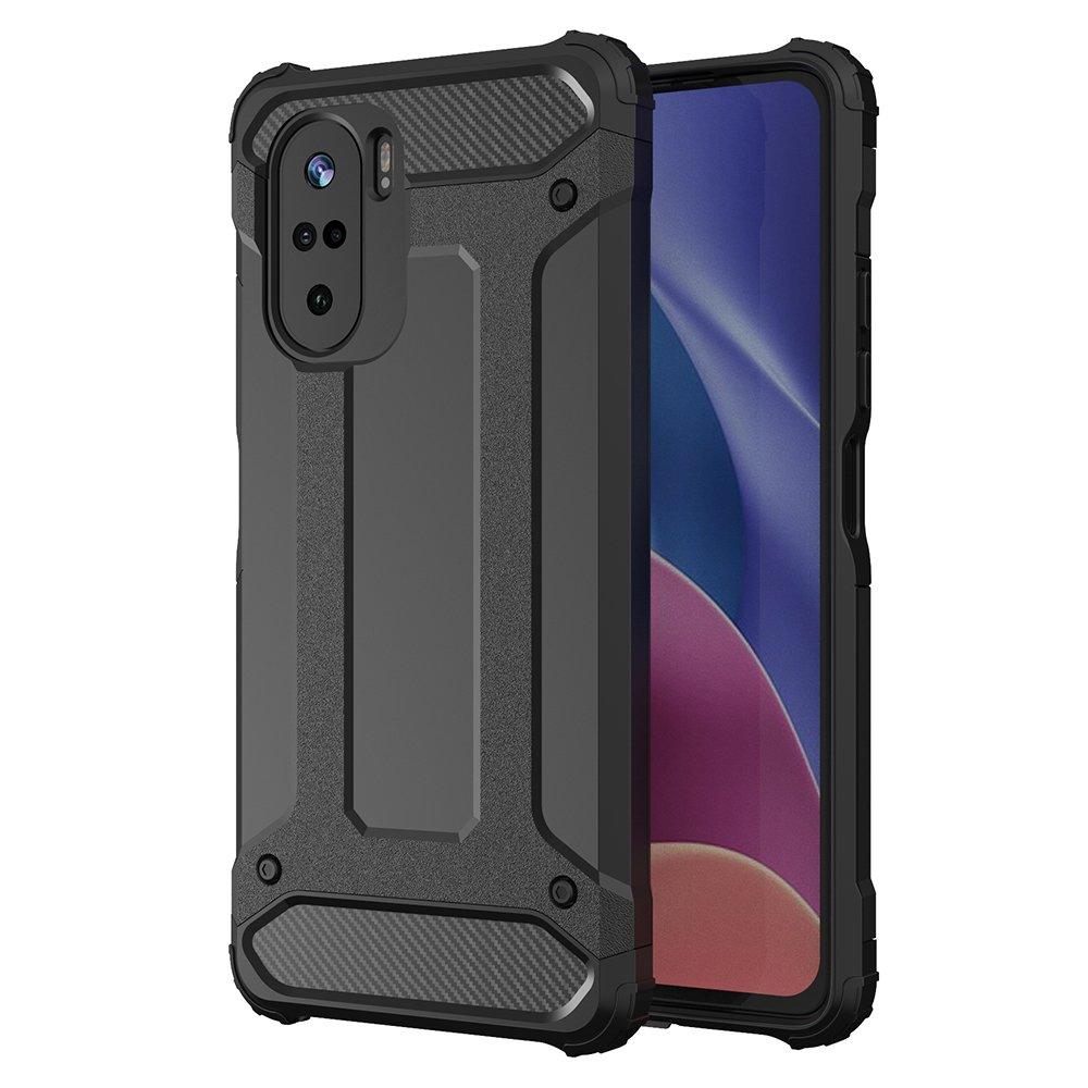 Hybrid pancierové polykarbonátové púzdro pre Xiaomi Poco F3 / Mi 11i black