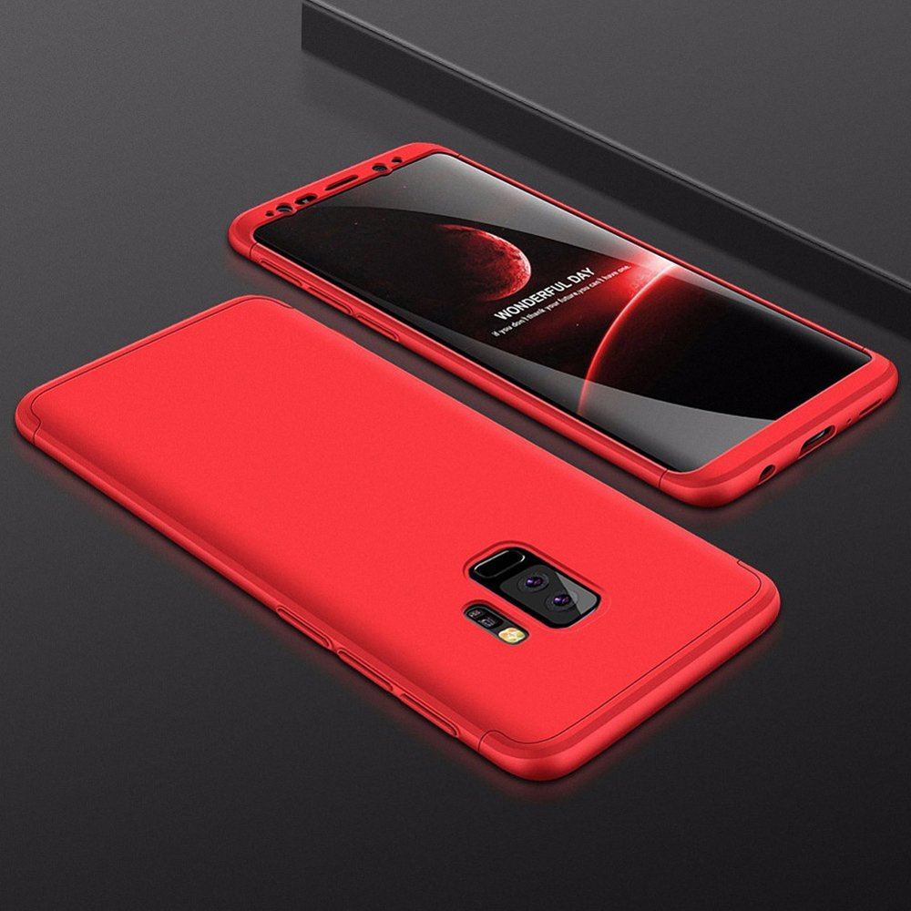 GKK 360 Protection pouzdro pro Samsung Galaxy S9 Plus G965 red